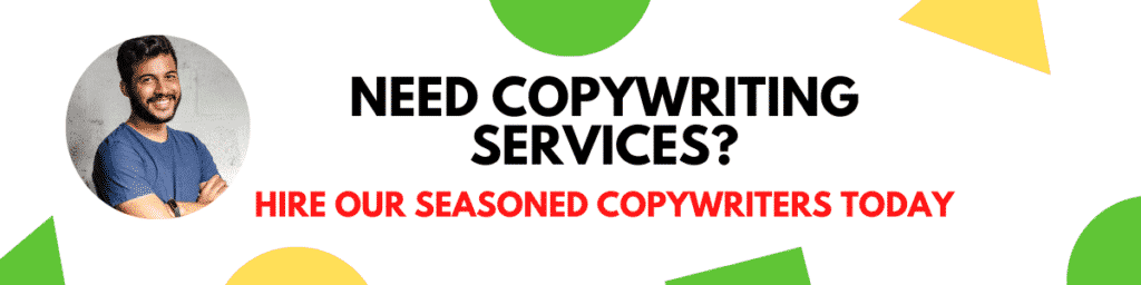 Copywriting services at content clerks