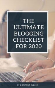 Blogging Checklist - Content Clerks