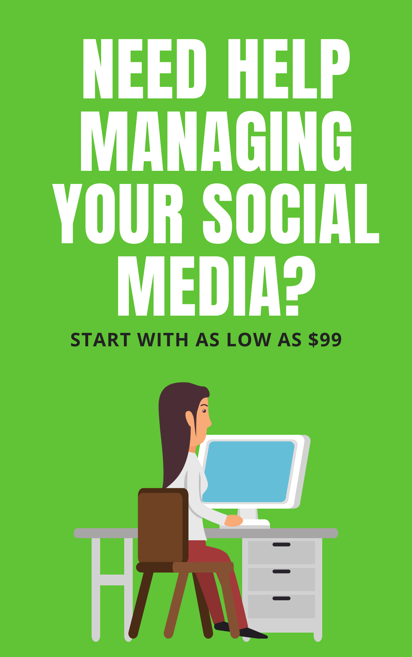 Social media management services at content clerks