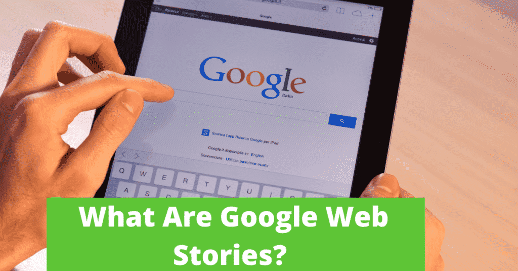 Someone search on google;Google Web Stories